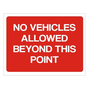 No Vehicles Allowed Beyond This Point