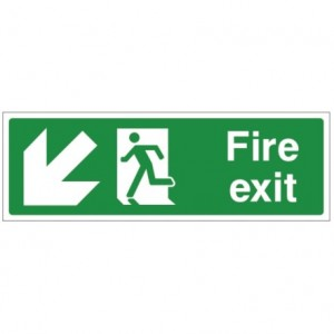 Fire exit DOWN LEFT