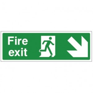 Fire exit DOWN RIGHT