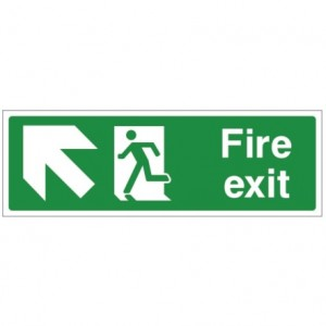 Fire exit UP LEFT