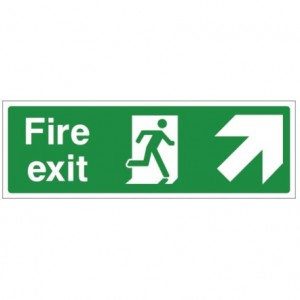 Fire exit UP RIGHT