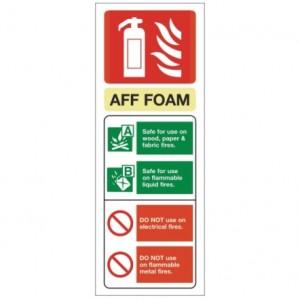 Foam ID sign