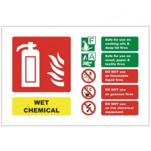 Wet Chemical ID Sign