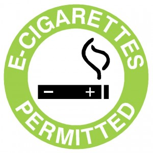 E Cigarettes Permitted Sign