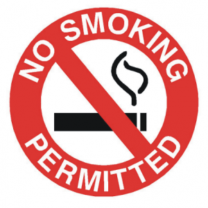 No Smoking Permitted Sign