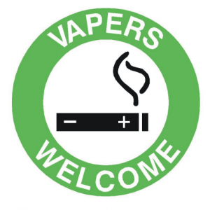 Vapors Welcome Sign
